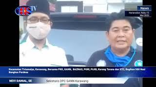 Kecamatan Tirtamulya Kabupaten Karawang melaksanakan Kegiatan sosial melalui gerakan nasi bungkus (HARIANSIBER TV)