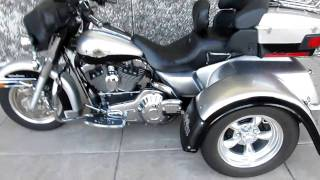 7. Harley Ultra Classic 100th Anniversary Motor Trike, Custom Exhaust