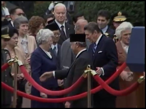 President Reagan And President Soeharto Of Indonesia Remarks On October 12, 1982