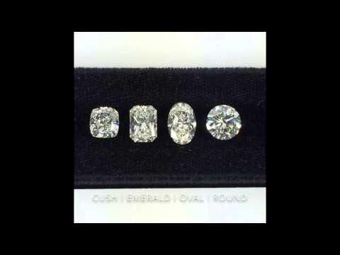 Loose Diamonds Shape Comparison: Cushion, Radiant, Oval, Round Brilliant