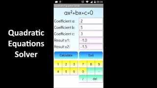 Quadratic Equation Solver YouTube video