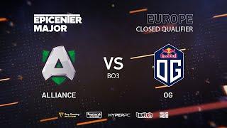 Alliance vs OG, EPICENTER Major 2019 EU Closed Quals , bo3, game 1 [Mila & inmate]