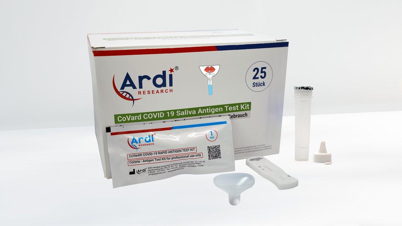CoVard Covid-19 Saliva Antijen Test Kiti Fabrikada nasıl hazırlanıyor?