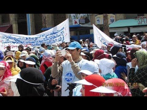 الشغيلة العاملة بأسفي تحتفل بعيد الشغل على إيقاع الاحتجاجات – فاتح ماي 2018