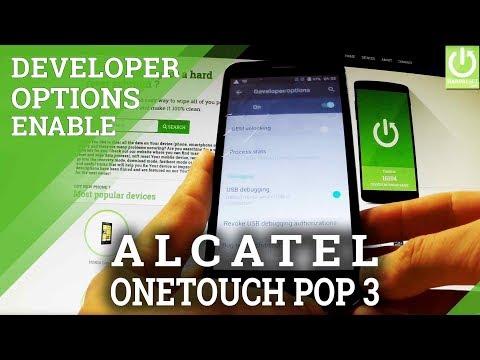Enable Developer Mode in ALCATEL 5015D OneTouch Pop 3 - USB Debugging