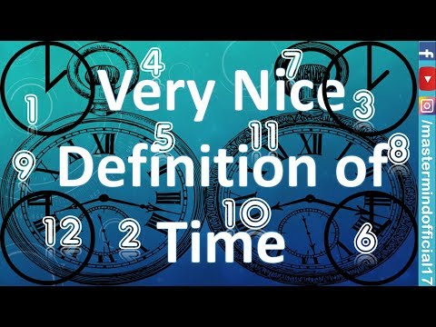 Nice quotes - Very Nice Definition of Time  Motivation Video   Master Mind