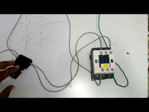 1. DOL (Direct on line) starter of three phase motor using a contactor and NO & NC push buttons