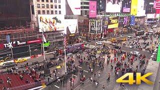 【アメリカ・NYタイムズスクエア】立ち並ぶ看板や行き交う人々EarthCam Live