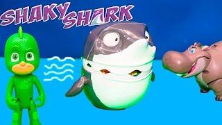 SHARKY SHARK Game Disney PJ Masks Plays Lion Guard in Toy Game Challenge