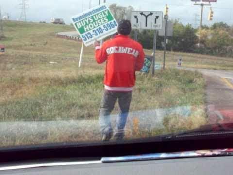 Mr. Wholesaler of Cincinnati putting out 1 of his 500 bandit signs!!