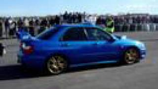 Subaru STi Starts In Reverse On Drag - Bishops Court IRL