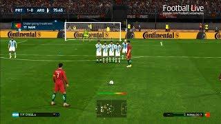 Video PES 2017 | Portugal VS Argentina | C.Ronaldo Free Kick Goal & Full Match | Gameplay PC MP3, 3GP, MP4, WEBM, AVI, FLV April 2018