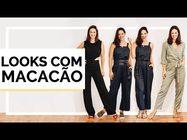 7 LOOKS COM MACACÃO E CALÇADOS DIFERENTES CASUAL e CHIQUE - Closet da Mari
