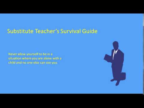 Substitute Teacher's Survival Guide Part 16 For - Men Only