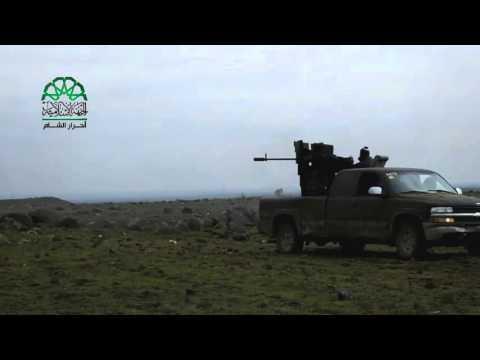 حماة: استهداف مواقع مليشيات الأسد على جبهات قرية حربنفسة بمدفع 23
