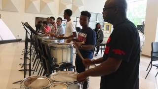 Atlanta Drum Academy working out with Mays High School