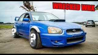 New wheels on the Wrecked Widebody WRX! by Evan Shanks