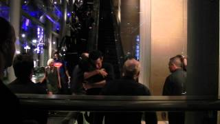 This is 2 for 2 in seeing Matt Smith leaving a party at SDCC. It was crowded out front with paparazzi and fans and such so he didn't come out past us.