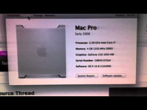 Geforce 210 Mountain Lion 10.8 hackintosh (видео)
