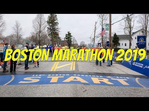 Boston Marathon 2019 Live Stream - Start Area!!