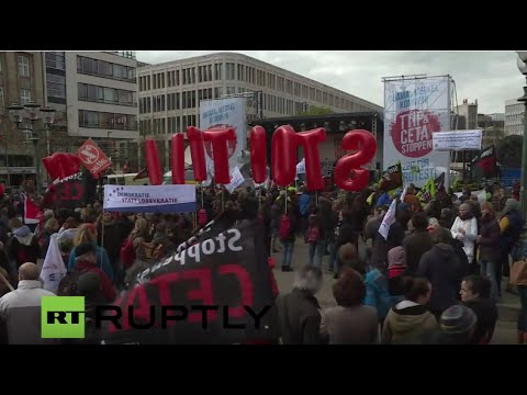 Demo 2016: LIVE - Anti-TTIP, anti-CETA demo take pl ...