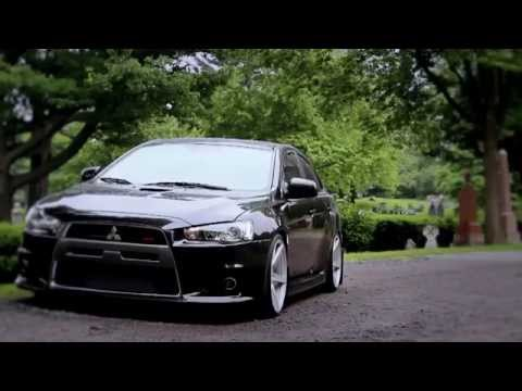 Stanced Mitsubishi Lancer Evolution X on Vossen Wheels