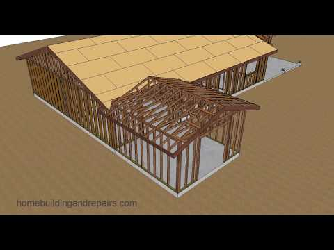 Gable Roof Trusses With Fill – Home Addition Roof Framing