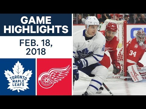 Video: NHL Game Highlights | Maple Leafs vs. Red Wings - Feb. 18, 2018