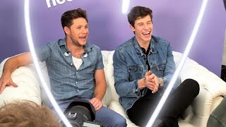 Shawn Mendes and Niall Horan being interviewed at BBC - THE BIGGEST WEEKEND