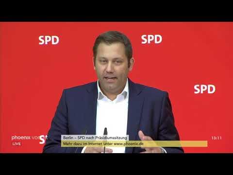 Lars Klingbeil nach der SPD-Präsidiumssitzung am 24.0 ...