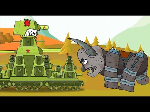 Monstruo aterrador VS Tank. Mundo de tanques animados. Dibujosanimados tanques. Caricaturas  tanque