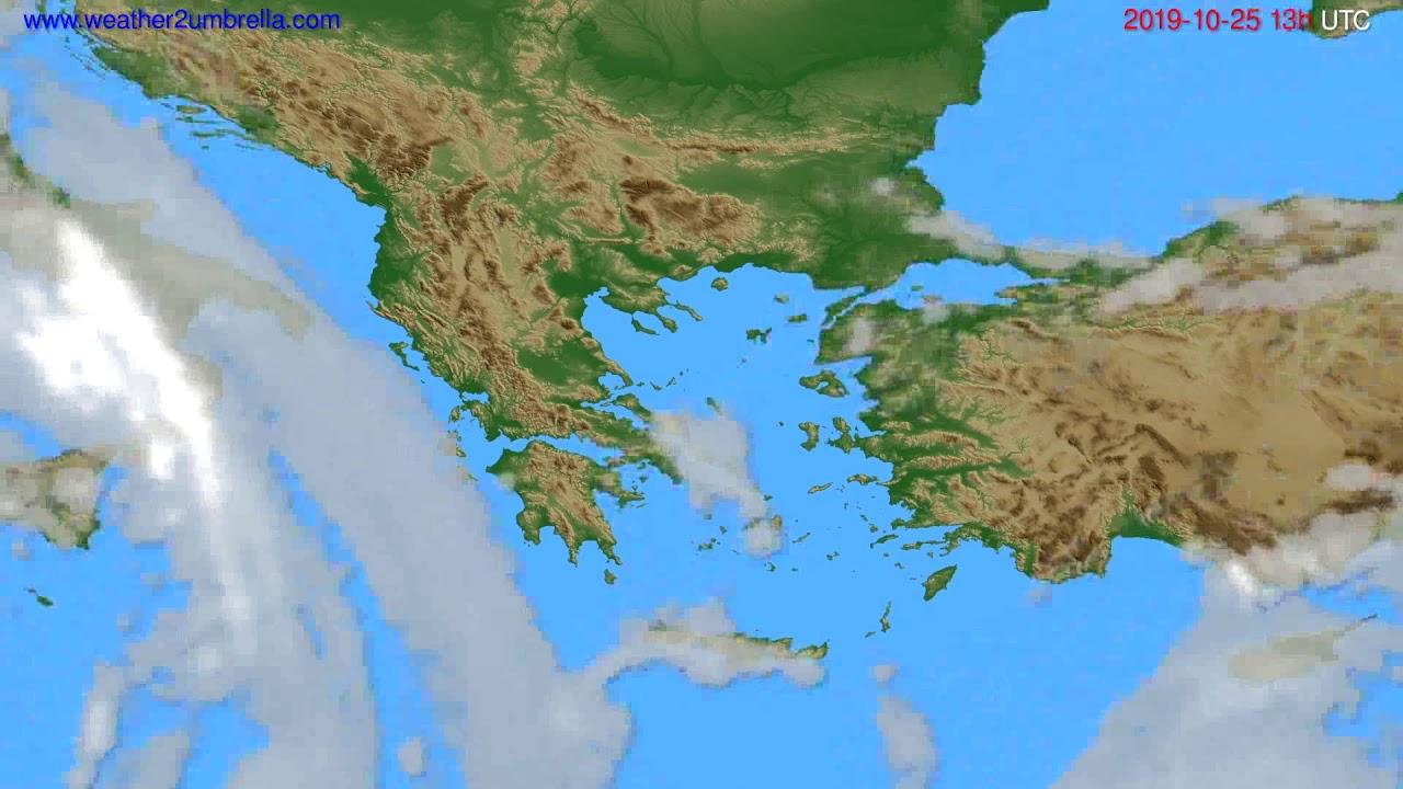 Cloud forecast Greece // modelrun: 00h UTC 2019-10-24