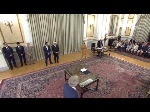 Ορκομωσία νέων μελών της κυβέρνησης