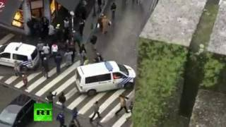 Liege Belgium  City new picture : Belgium grenade attack: First video of Liege city center after tragedy