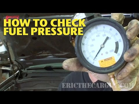 How To Check Fuel Pressure -EricTheCarGuy