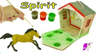 DIY Spirit Riding Free Stablemates Stallion + Barn Painting Craft Set - Do It Yourself Video