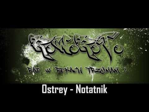 Ostrey - Notatnik lyrics