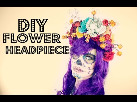 DIY Flower Headpiece | Day of the Dead | Dia de los Muertos