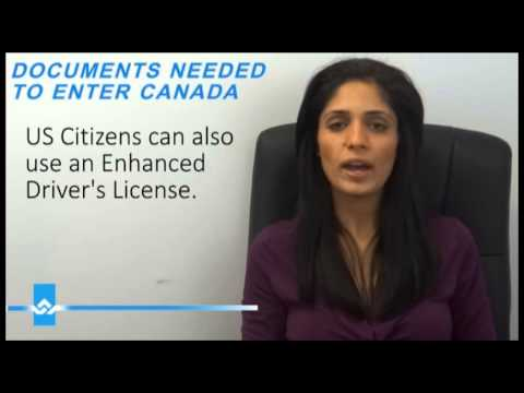 Documents Needed to Enter Canada Or United States Video