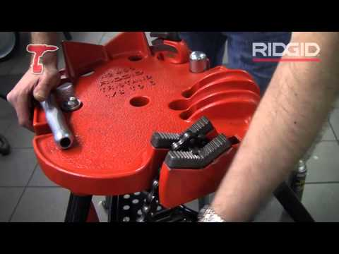 ridgid - http://www.toolstop.co.uk/ridgid-460-72037-portable-tristand-with-chain-vice-p13777 - Mike expertly runs through the features and benefits of the RIDGID 460 ...