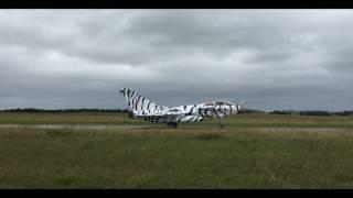 Le rafale tigre blanc de l'aéronavale française, pour la Nato Tiger Meet 2017 au roulage pendant le premier SpotterDay.