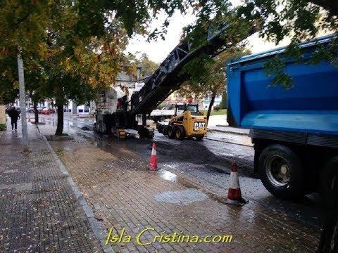 Comienzan las obras en las calles de Isla Cristina