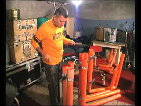suonare con i tubi di una grondaia - il tubolophon