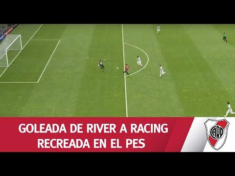 La goleada a Racing, en el PES