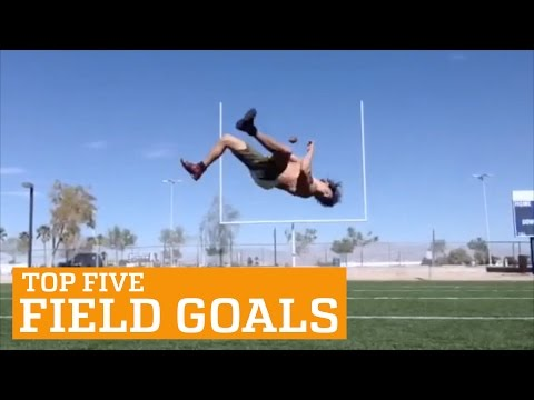 TOP FIVE - FOOTBALL FIELD GOALS | PEOPLE ARE AWESOME