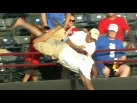 dies - Update: http://abcn.ws/pP6F4B Man took a fatal fall after being tossed a foul ball by Rangers' Josh Hamilton.