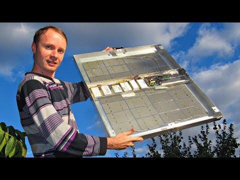 Один Кулибин собрал мини солнечную батарею сразу на 220 вольт, как в розетке!