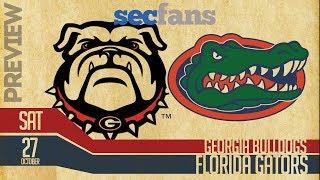 Georgia vs Florida - Preview & Prediction w/Computer Model 2018 Gators vs Bulldogs