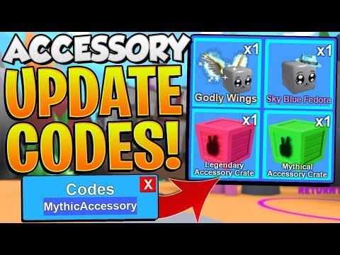 MYTHICAL ACCESSORY UPDATE CODES IN ROBLOX MINING SIMULATOR!