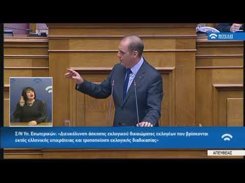 Κ.Βελόπουλος (Πρόεδρος ΕΛΛΗΝΙΚΗ ΛΥΣΗ)(Εκλογική διαδικασία)(11/12/2019)